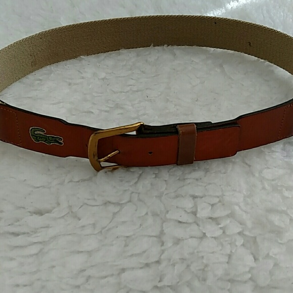 5a77a26688283a Lacoste Accessories - Lacoste leather and canvas material belt